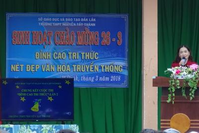 Trường THPT Nguyễn Tất Thành –M'Drăk tổ chức các hoạt động chào mừng 87 năm Ngày thành lập Đoàn TNCS Hồ Chí Minh (26/3/1931-26/3/2018)