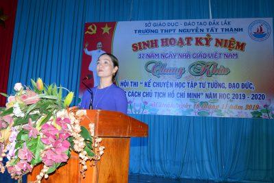 Trường THPT Nguyễn Tất Thành Sôi nổi phong trào thi đua chào mừng Kỷ niệm 37 năm Ngày nhà giáo Việt Nam 20/11/1982 – 20/11/2019