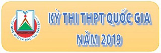 THÔNG TIN KỲ THI THPT QG 2019