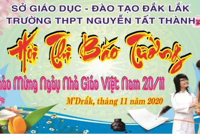 Sôi nổi Hội thi làm Báo tường chào mừng Ngày Nhà giáo Việt Nam 20/11