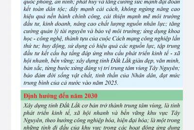 Nghị quyết Đại hội đại biểu Đảng bộ tỉnh Đắk Lắk lần thứ XVII (2020-2025)