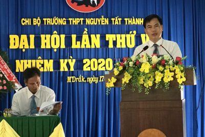 Đại hội Chi bộ Trường THPT Nguyễn Tất Thành lần thứ VII, nhiệm kỳ 2020-2025